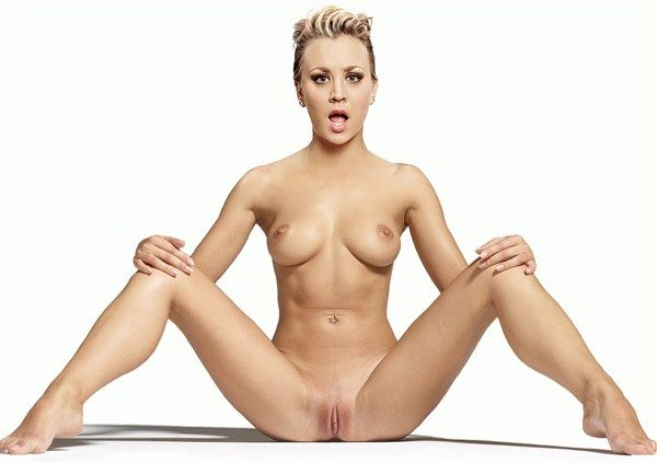 Kaley Cuoco Showing her Pussy Fake