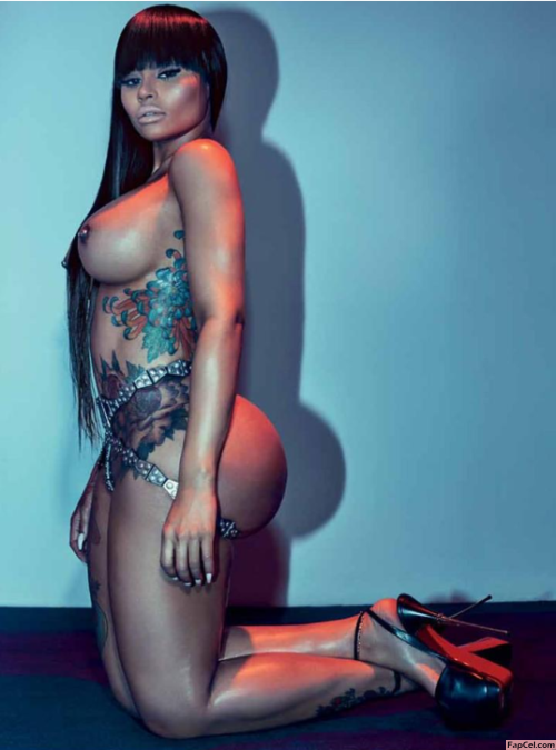 Blac Chyna Nude in Chains