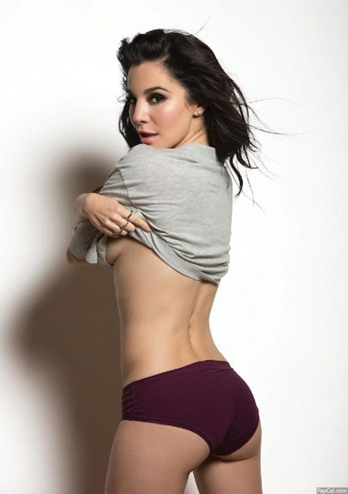 Martha Higareda Taking Off the Shirt