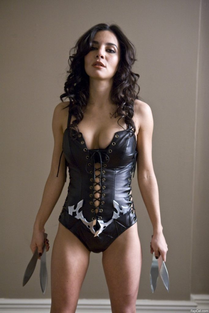 Martha Higareda in a Leather Costume